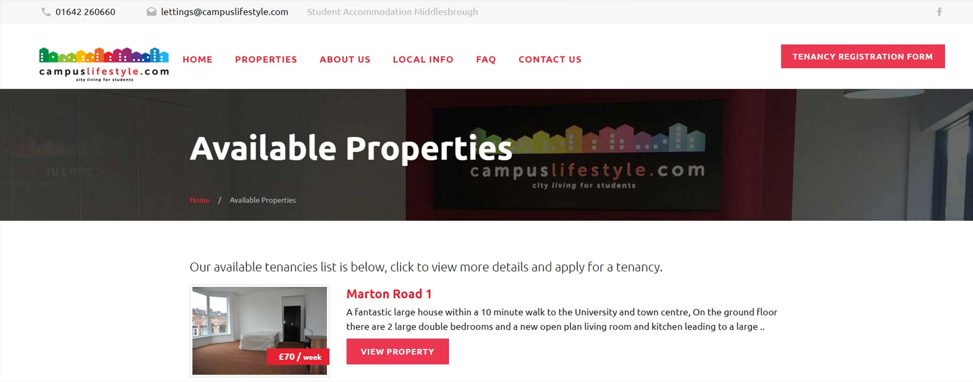 Campus Lifestyle Website Design