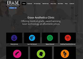 Erase Aesthetics Website