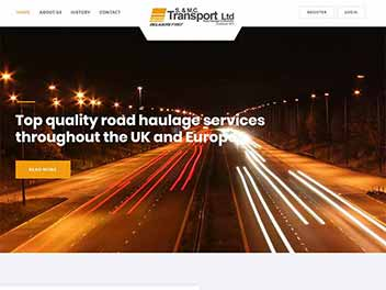 S & MC Transport Website Design